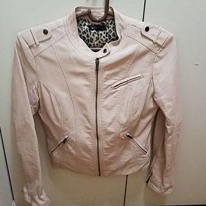 Last chance! Le Chateau Pale Pink Biker Jacket